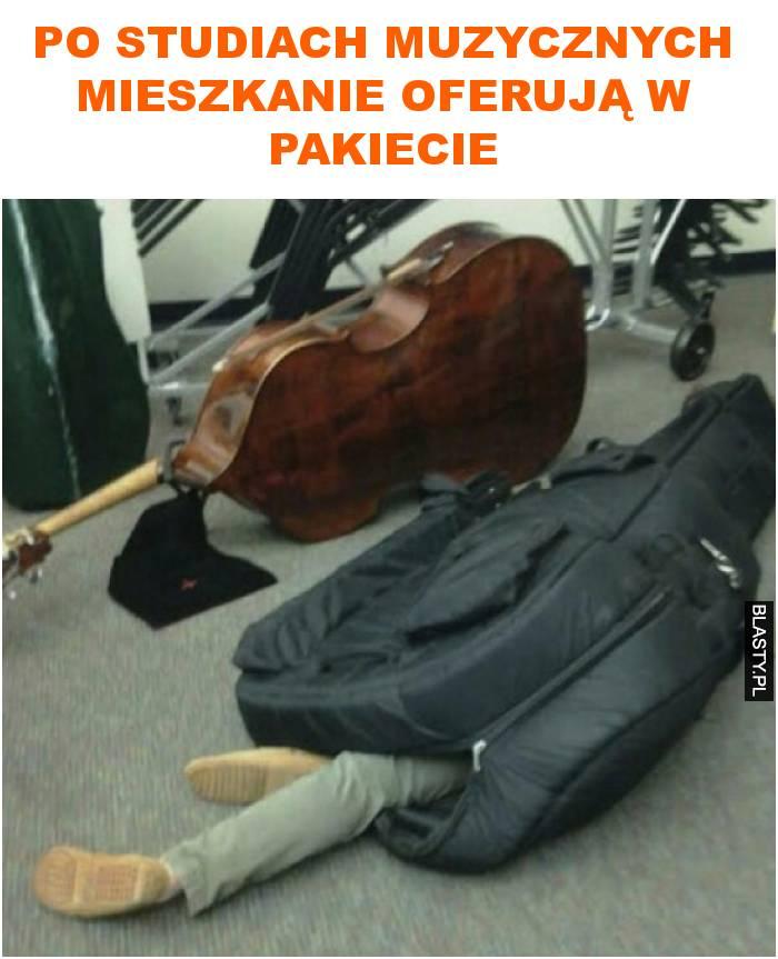 po studiach muzycznych mieszkanie oferują w pakiecie