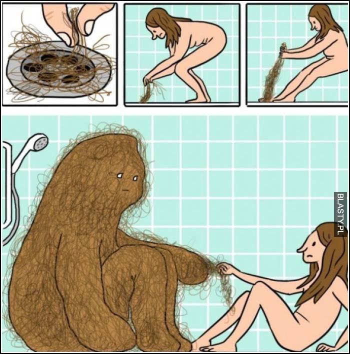 włosy po goleniu