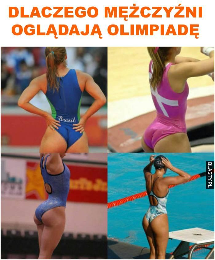 Dlaczego mężczyźni oglądają olimpiadę