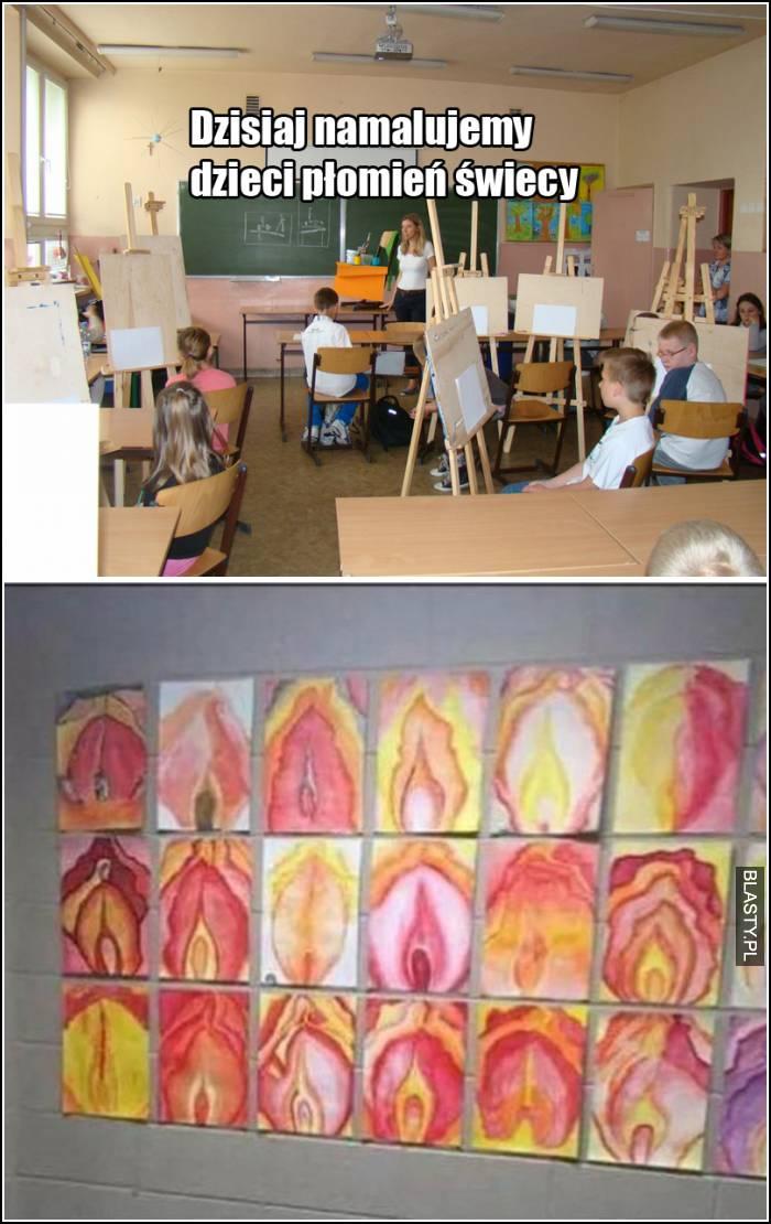 dzisiaj namalujemy płomień świecy
