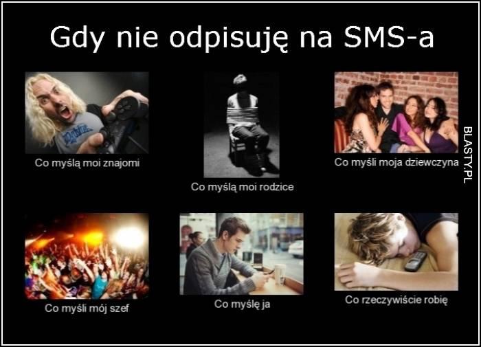 Gdy nie odpisuje na SMS-a