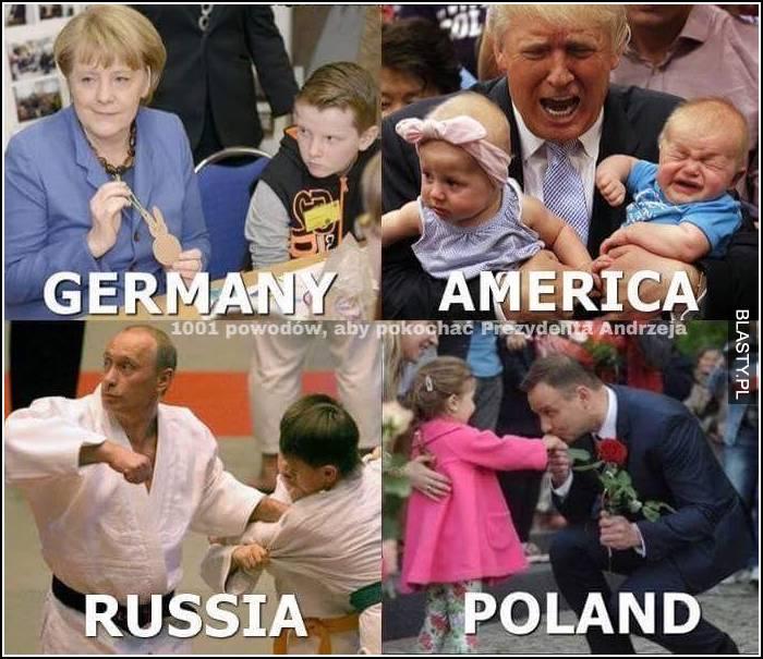 Germany America Russia vs Poland
