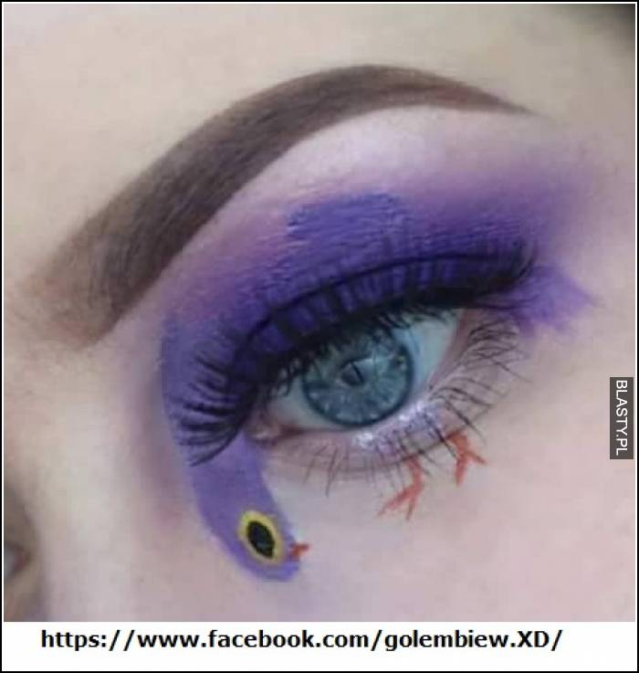 Gołębiowy makijaż