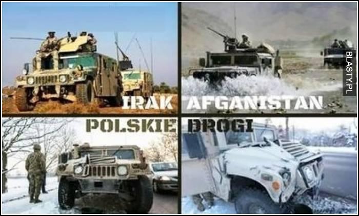 Irak vs afganistan vs polskie drogi