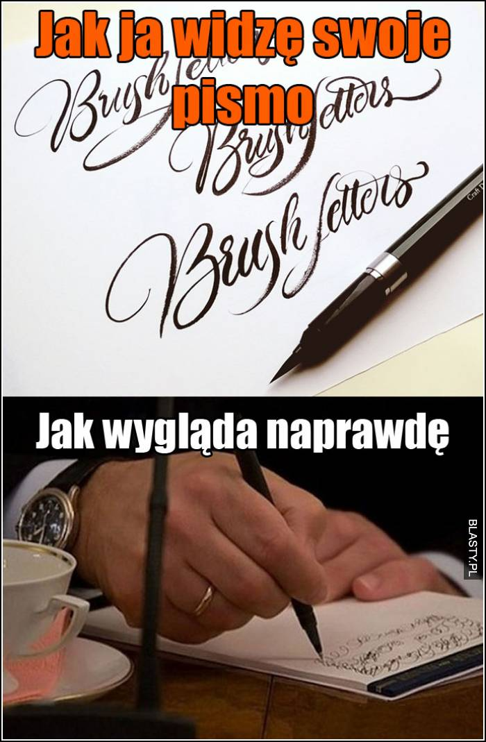 jak ja widzę swoje pismo