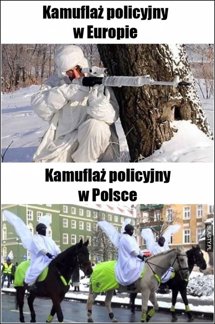 kamulfaż policyjny w Europie