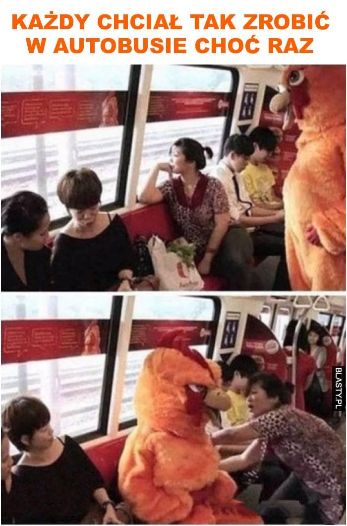 Każdy chciał tak zrobić w autobusie choć raz