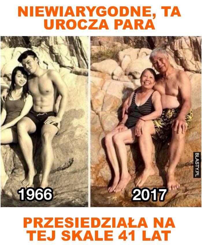 niewiarygodne, ta urocza para przesiedziała na tej skale 41 lat