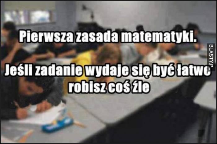 Pierwsza zasada matematyki