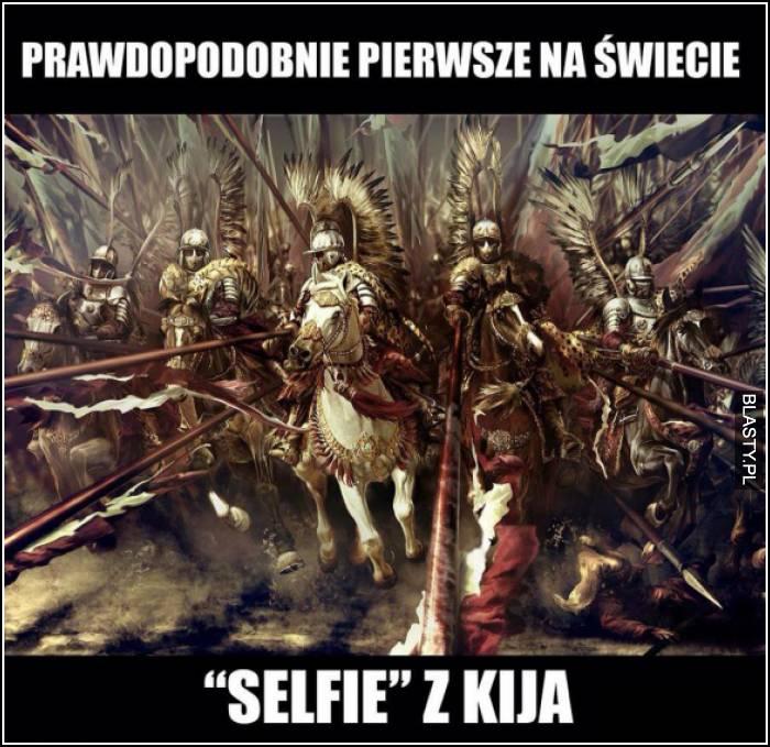 prawdopodobnie pierwsze selfie z kija