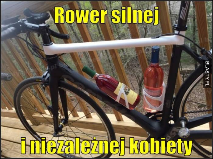 rower silnej i niezależnej kobiety