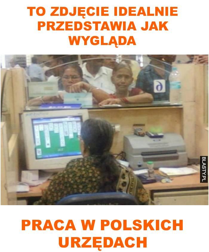 to zdjęcie idealnie przedstawia jak wygląda praca w polskich urzędach