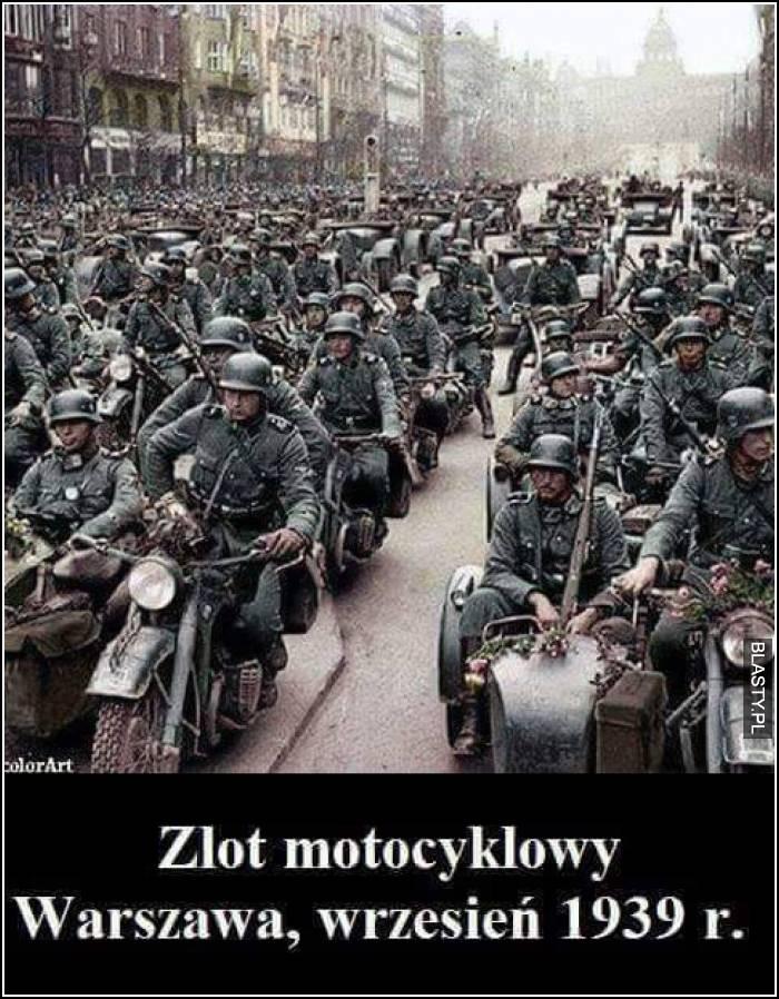 Zlot motocyklowy Warszawa Wrzesień 1939
