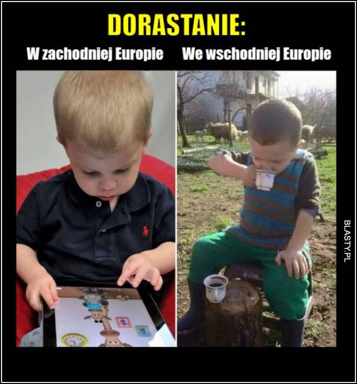 dorastanie w europie wschodniej