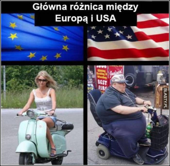 główna różnica między Europą a USA