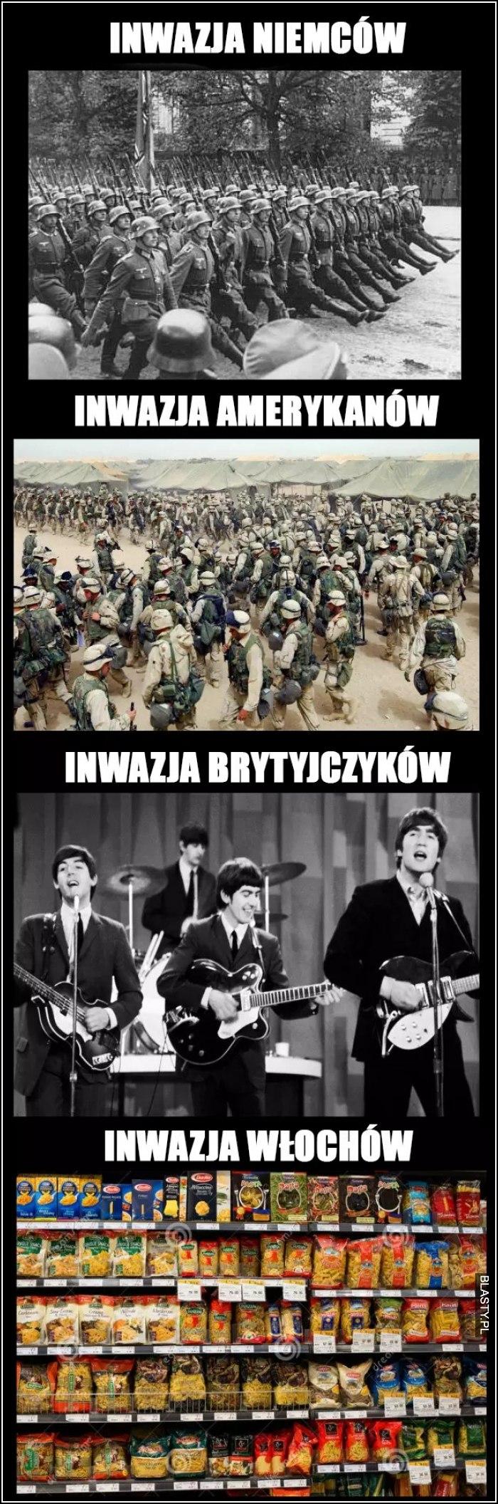 inwazja niemców