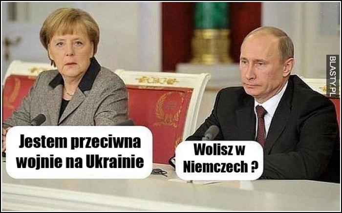 jestem przeciwna wojnie na Ukrainie
