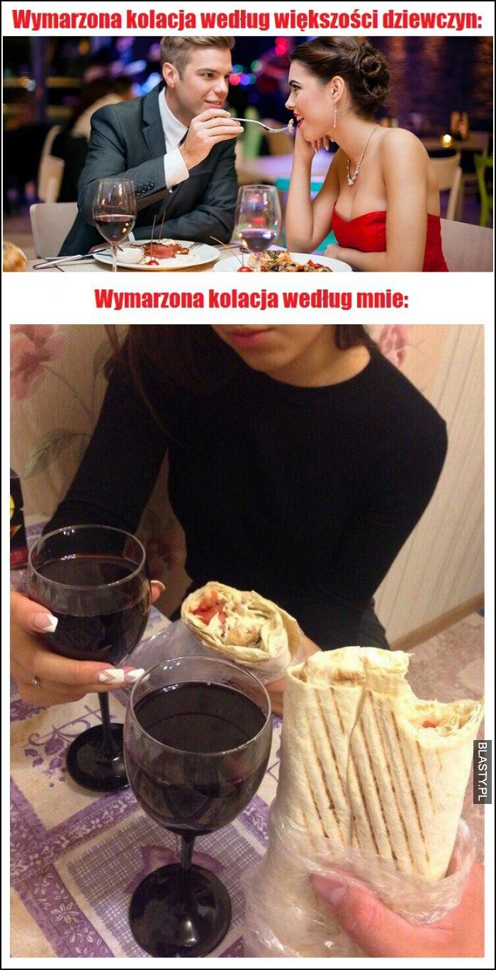 kolacja według kobiety