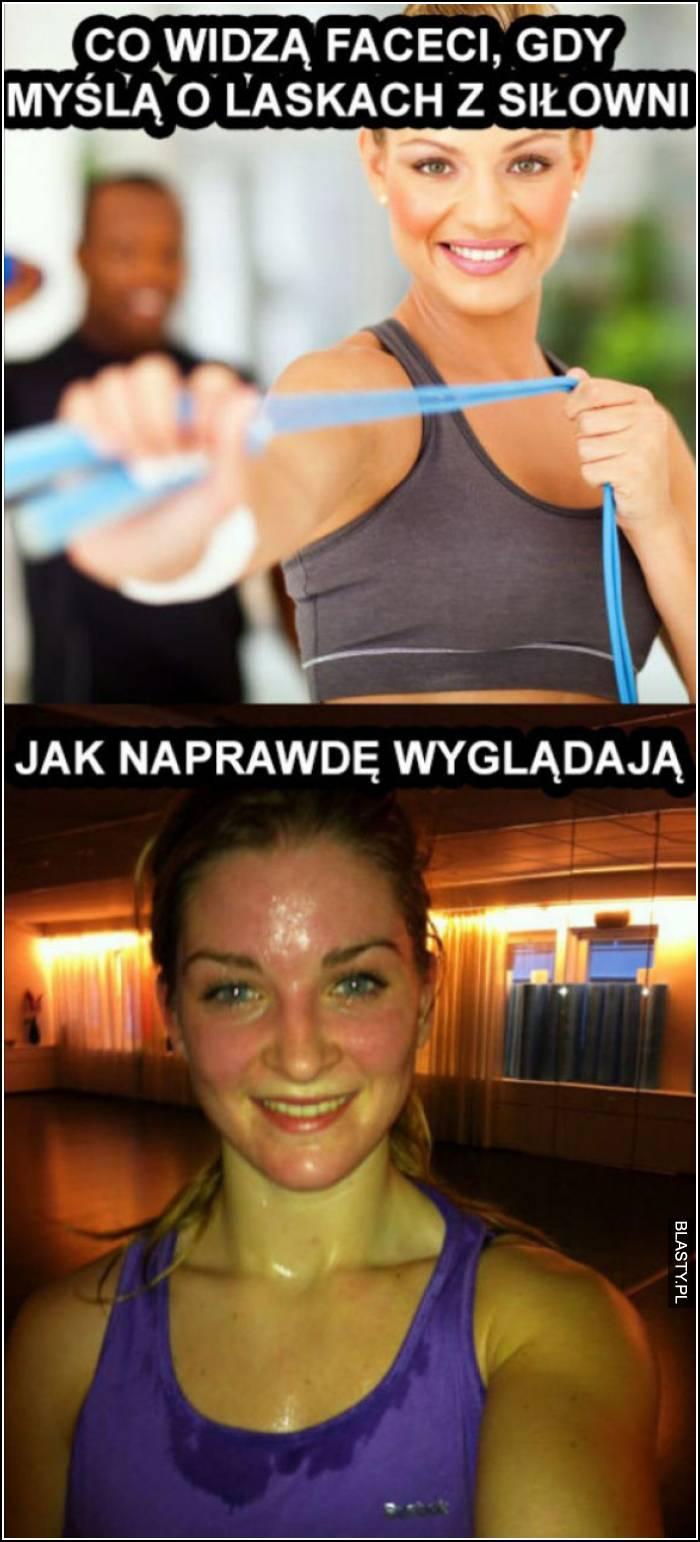 laska na siłowni