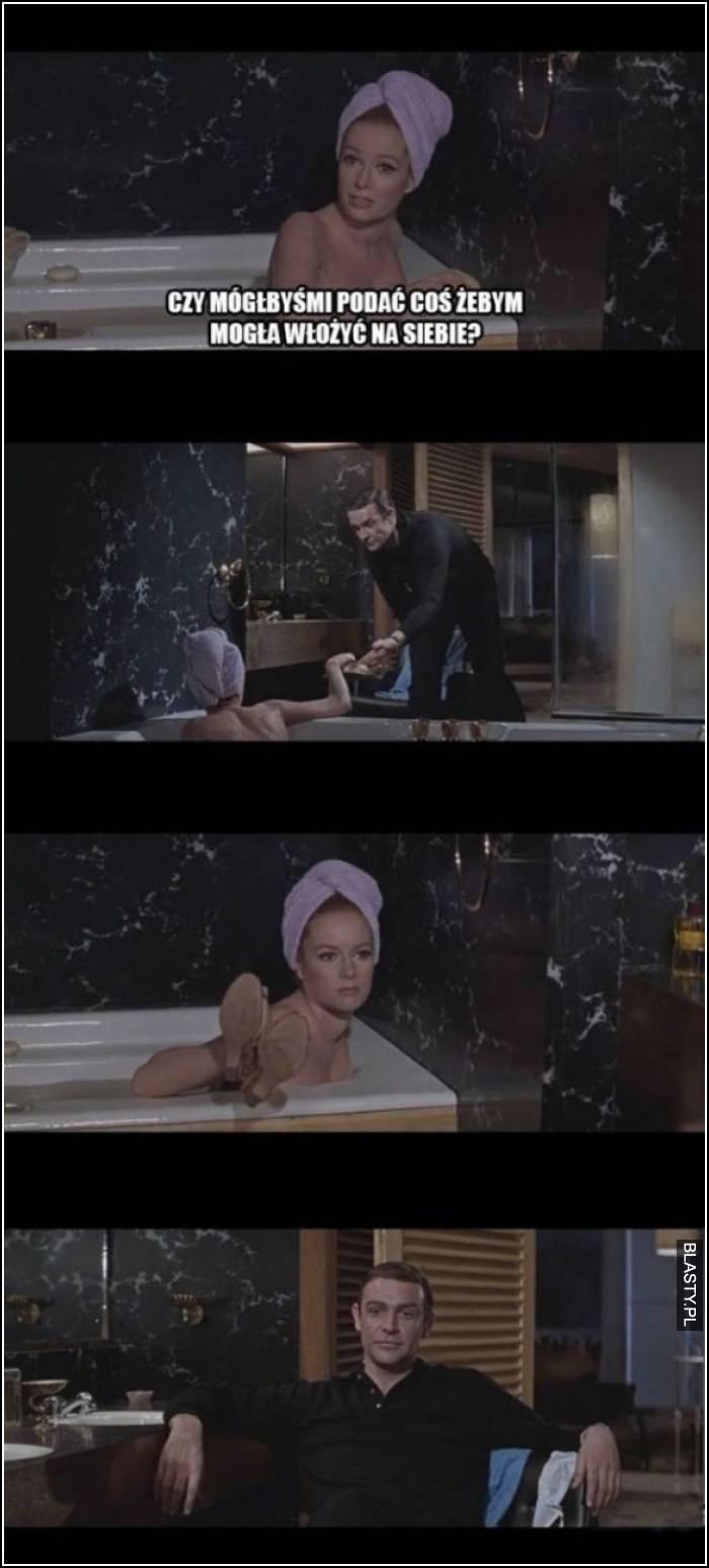 podaj mi ręcznik
