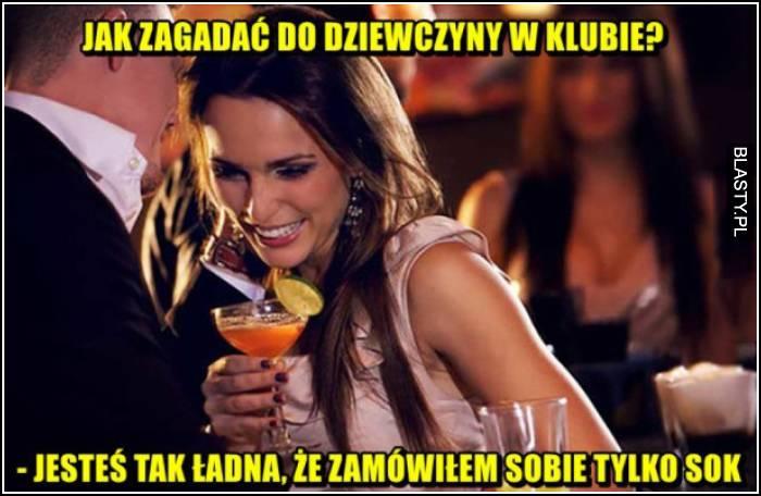 podryw w barze bez alkoholu