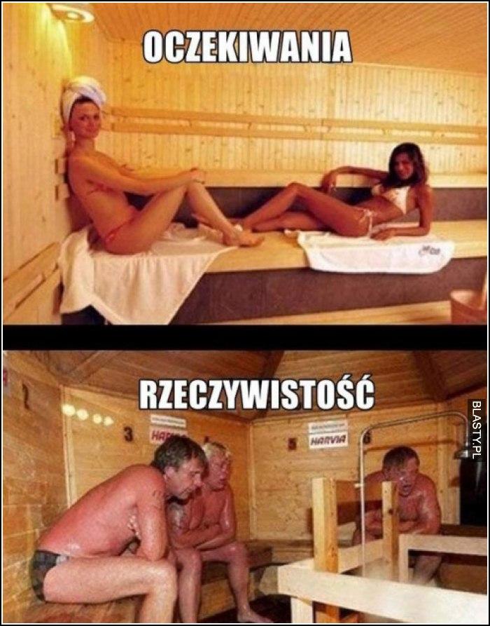 rzeczywistość w saunie