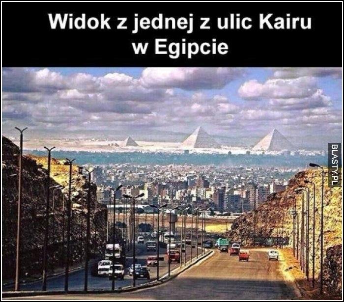 Widok z jednej z ulic kairu w Egipcie