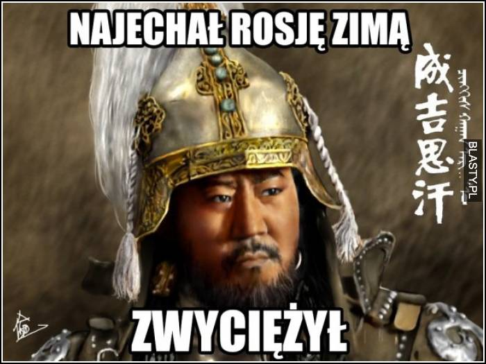 wygrał wojnę z Rosją