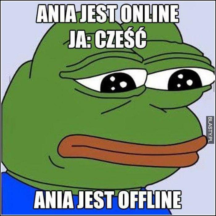 Ania jest online