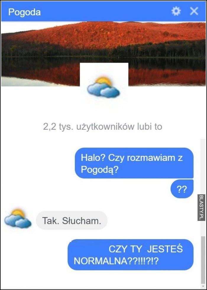 Czy rozmawiam z pogodą ?