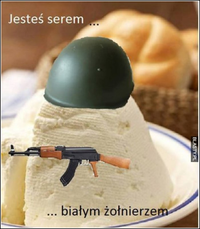 Jesteś serem białym żołnierzem