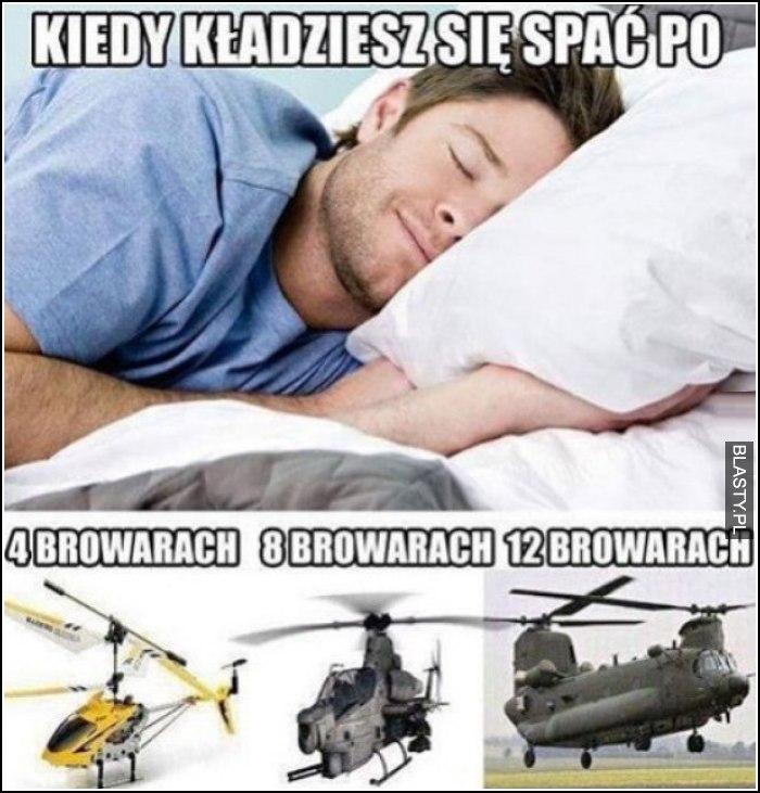 kiedy kładziesz się spać