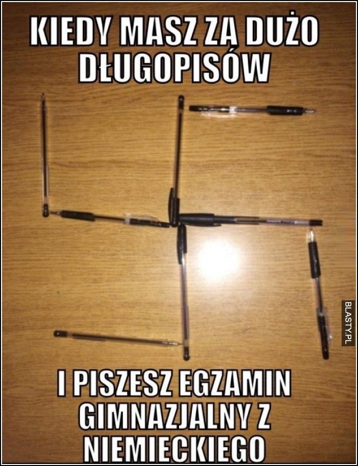 Kiedy masz za dużo długopisów