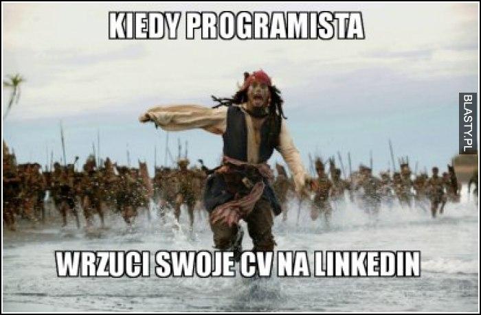 Kiedy programista wrzuci swoje CV na linkedin