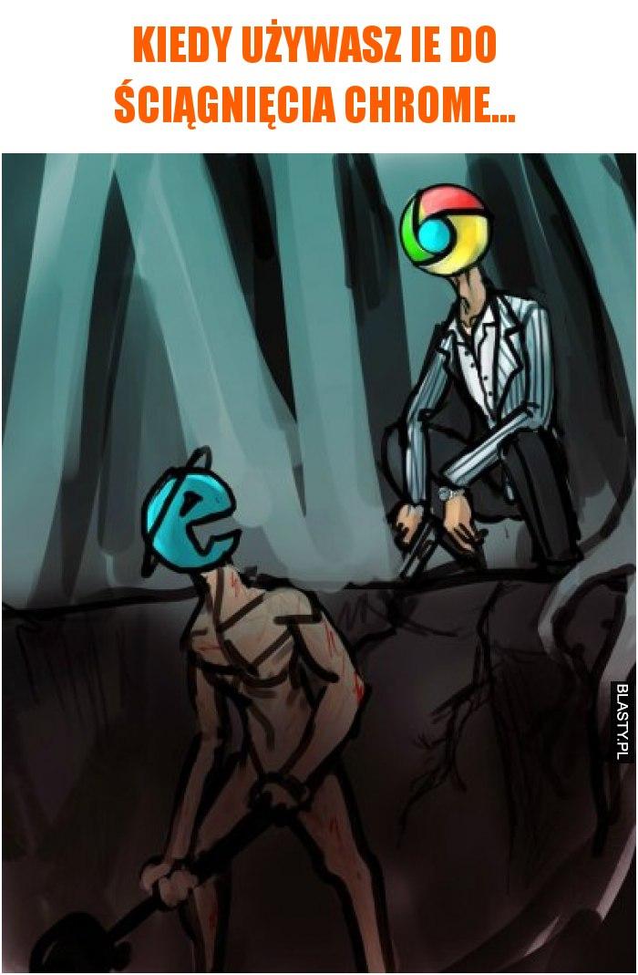 Kiedy używasz IE do ściągnięcia Chrome...