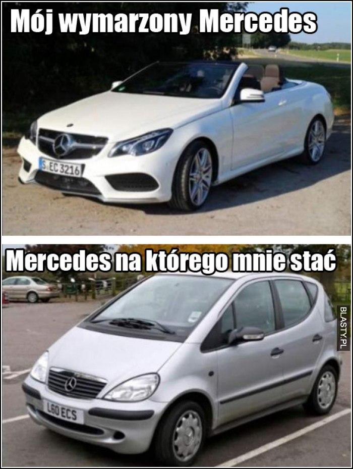 mój wymarzony Mercedes