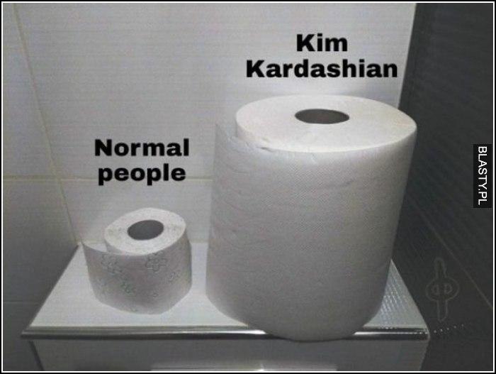 Normalni ludzie vs kim kardashian