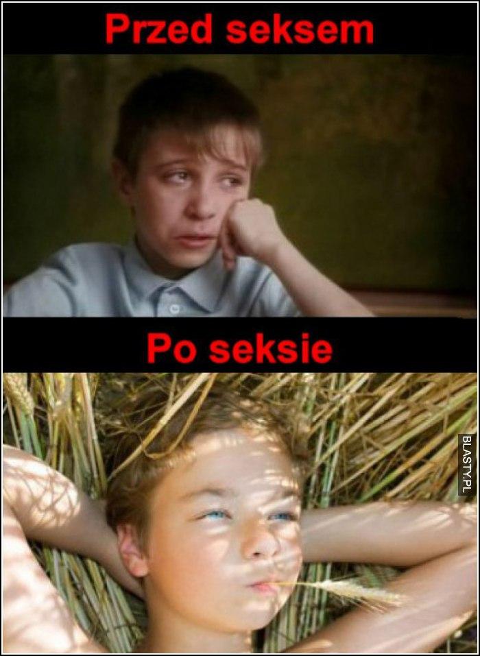 przed i po seksie