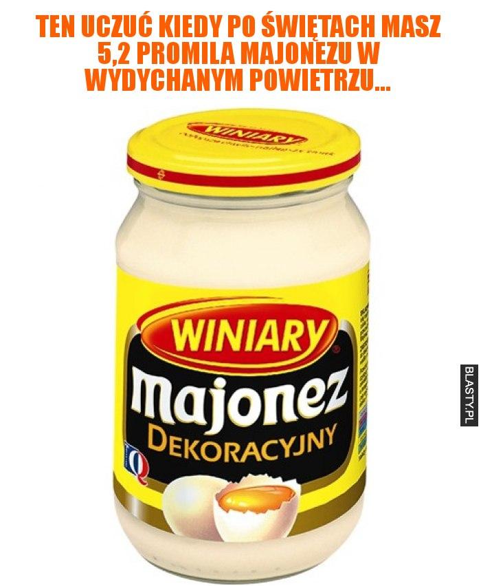 Ten uczuć kiedy po świętach masz 5,2 promila majonezu w wydychanym powietrzu...
