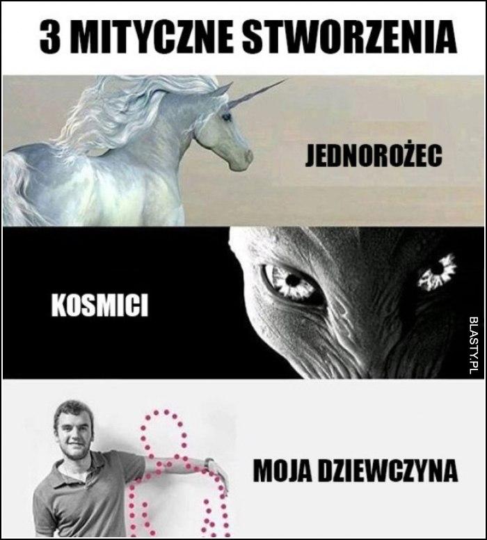 trzy mistyczne stworzenia