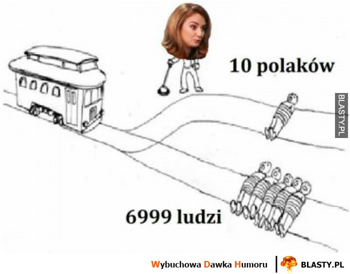 10 polaków vs 6999 ludzi