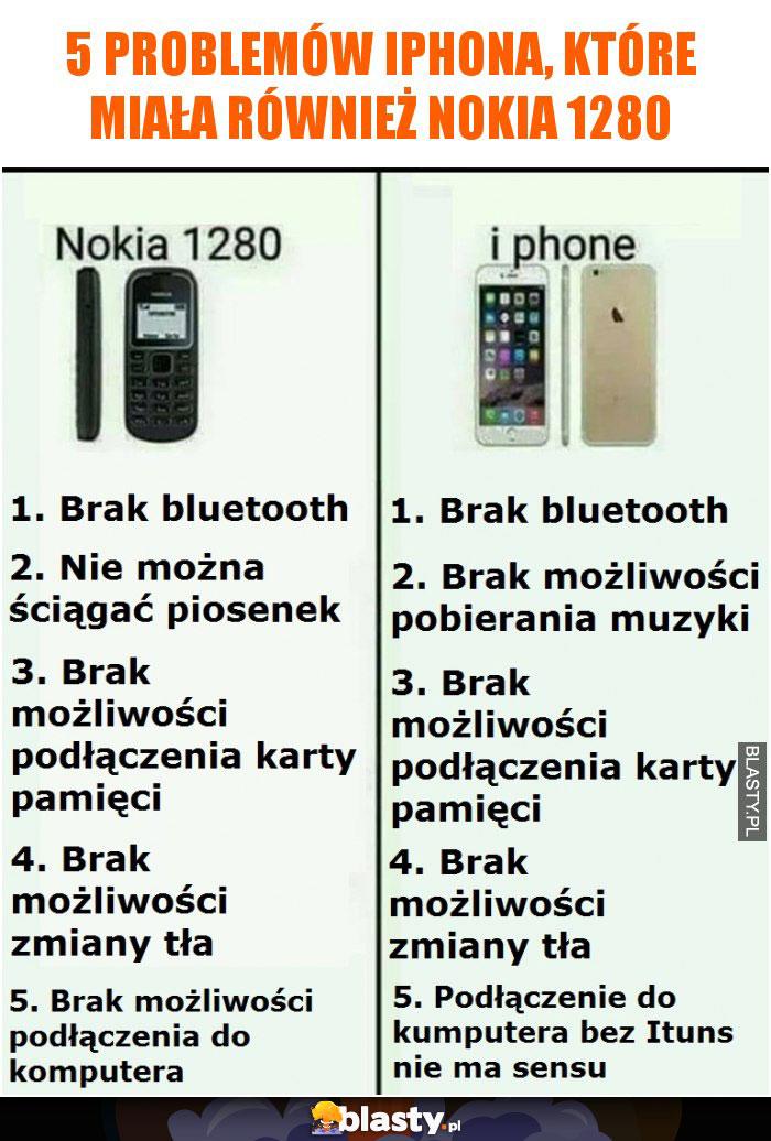 5 problemów iphona, które miała również Nokia 1280