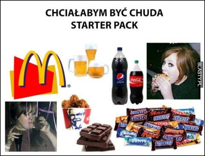 Chciałabym być chuda starter pack