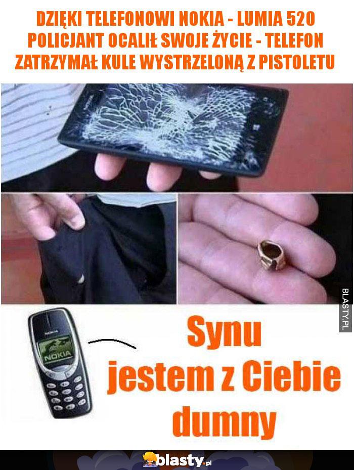 Dzięki telefonowi Nokia - Lumia 520 policjant ocalił swoje życie