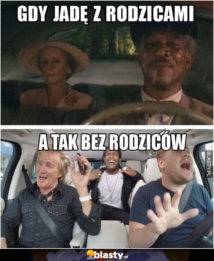 Gdy jadę z rodzaicami samochodem