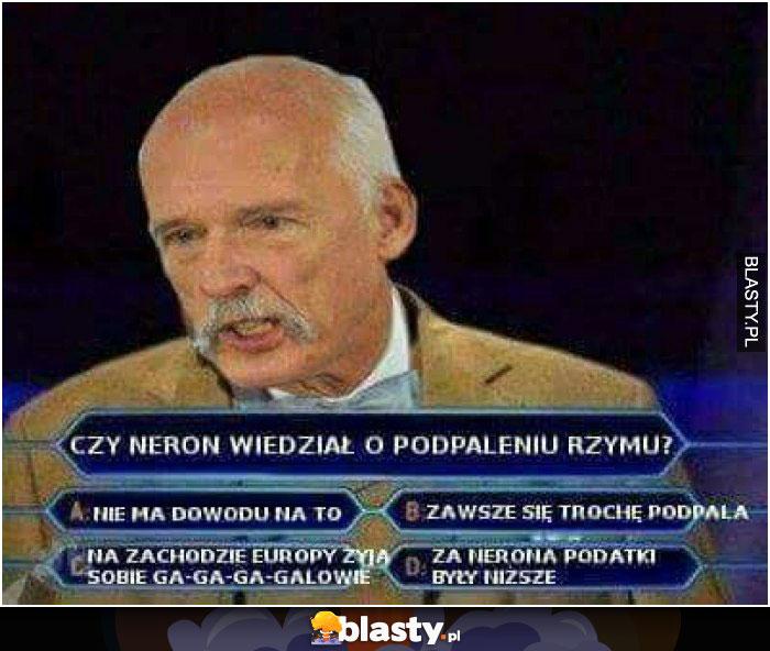Janusz Korwin Mikke w Milionerach