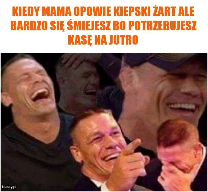 Kiedy mama opowie kiepski żart