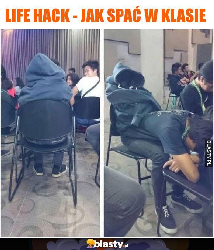 Life hack - jak spać w klasie