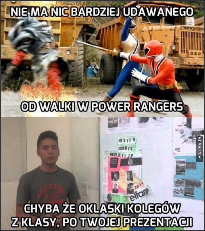Nie ma nic bardziej udawanego od walki Power Rangers