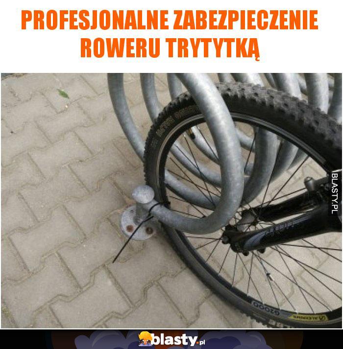 Profesjonalne zabezpieczenie roweru trytytką